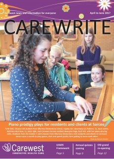 Cover from Carewrite April to June 2017 no marks