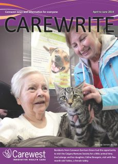 Cover from April 2019 Carewrite