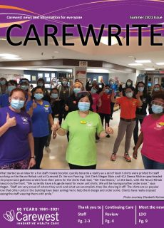 Cover from Carewrite Summer 2021
