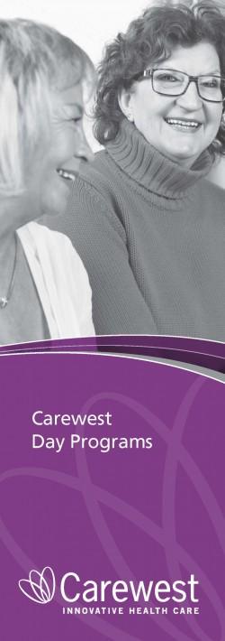 Adult Day Program brochure