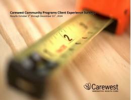 Community Programs Client Survey